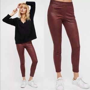 Free People Midnight Faux Suede Skinny Pants